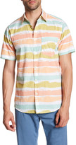 Original Paperbacks Milano Paint Stripe Regular Fit Short Sleeve Shirt