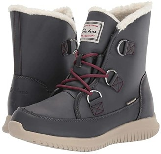 Skechers Ultra Flex (Charcoal) Women's Cold Weather Boots