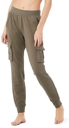 Alo Unwind Cargo Pants (Black) Women's Casual Pants