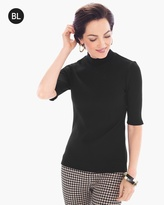 Chico's Ribbed Mock Neck Top