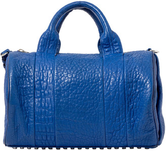 Alexander Wang Blue Rockie Lambskin Leather Boston Bag