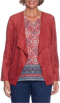 Alfred Dunner Gypsy Moon Cascade Suede Jacket