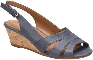 Comfortiva Leather Wedge Summer Slingbacks - Randi