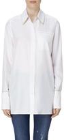 J Brand Blake Oversized Silk Shirt In Bonnet/Slip