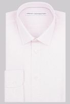 French Connection Slim Fit Pink Single Cuff Geo Print Shirt