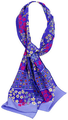 One Kings Lane Vintage Cacharel Purple Silk Scarf - Vintage Lux - purple/multi