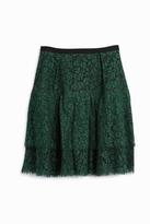 Erdem Aine Lace Ruffle Skirt