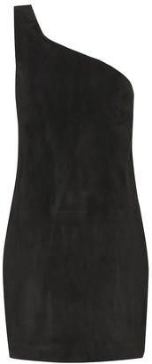 Saint Laurent Suede one-shoulder minidress