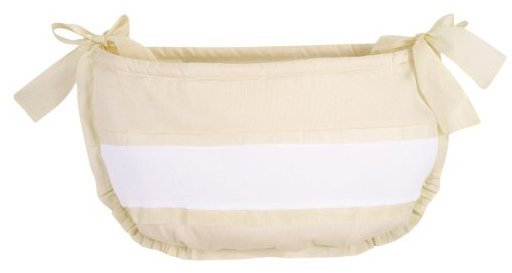 Picci USA Cortina Toy Bag in Cream and White