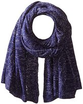 San Diego Hat Company Women's Blanket Scarf with Cable Stitch and Metallic Yarn