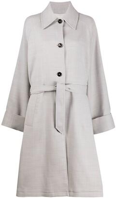 MM6 MAISON MARGIELA Belted Mid-Length Coat