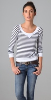 Navy Stripe Thermal Pullover