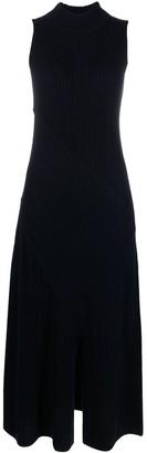 Vince Ribbed-Knit Sleeveless Dress