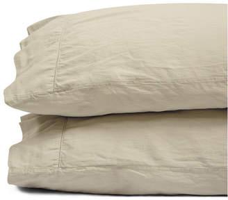 Jennifer Adams Home Jennifer Adams Pacific Relaxed Cotton Sateen Queen Pillowcases Bedding