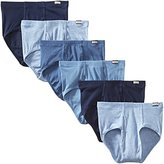 Hanes Men's 6-Pack FreshIQ Tagless No Ride Up Briefs with ComfortSoft Waistband, Assorted, Large