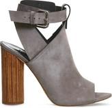 Office Natasha nubuck cylindrical heel sandals