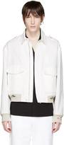 Maison Margiela White Distressed Linen Jacket
