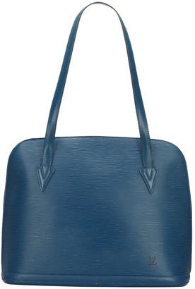 Louis Vuitton Lussac Blue Leather Bags