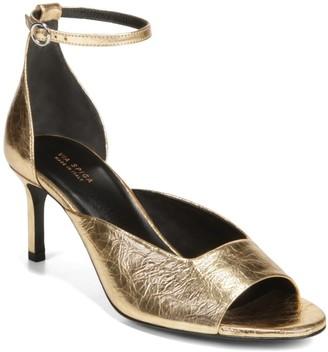 Via Spiga Jennie Metallic Ankle Strap Sandal