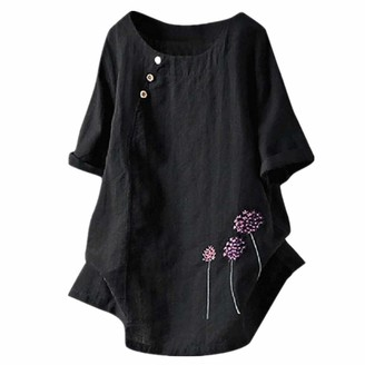 Z&Y Glaa Womens Tops Fashion Casual Womens Plus Size Floral Printed Cold Shoulder Cami Blouse Pockets Long Sleeve Crewneck T Shirt Sweatshirt Tops with Pockets Tops Color Block T-Shirt