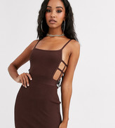Sixth June bodycon cami dress with cage detail in bandage