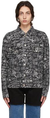 we11done Black Graffiti Allover Print Jacket