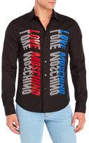 Love Moschino Mirrored Logo Sport Shirt