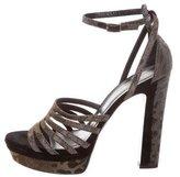 Tamara Mellon Metallic Platform Sandals