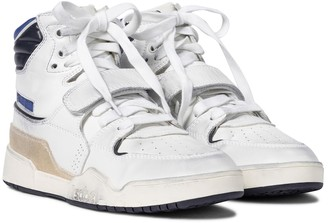 Isabel Marant Alsee leather high-top sneakers