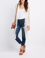 Charlotte Russe Lace Bell Sleeve Duster