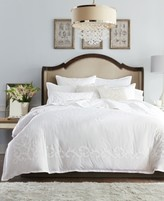 Hotel Collection Classic Scroll Applique Cotton King Duvet Cover, Created for Macy's Bedding
