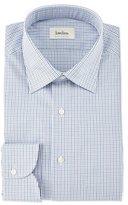 Neiman Marcus Multi Check-Print Woven Dress Shirt, Blue