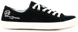 Maison Margiela lace-up velvet sneakers