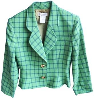 Guy Laroche Green Wool Jacket for Women Vintage