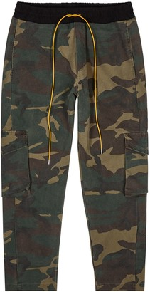 Rhude Rifle camouflage-print twill cargo trousers