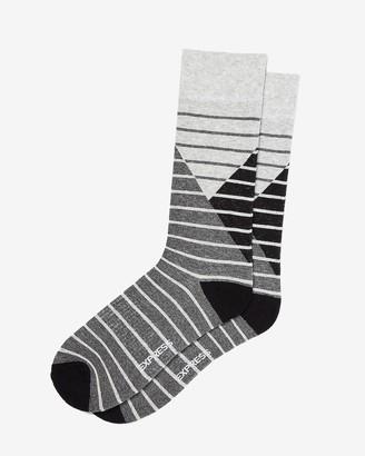 Express Geo Stripe Dress Socks