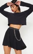 Impress Black Pleated Mini Skirt
