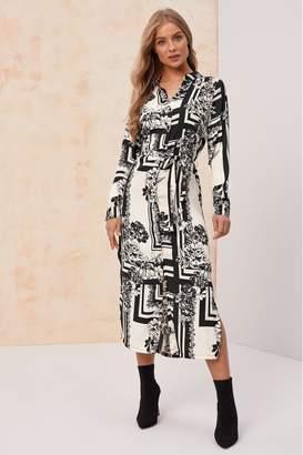 Vero Moda Womens Long Sleeve Shirt Dress - Black
