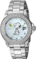 Invicta Women's Snoopy Character Mother of Pearl Stainless Steel Watch 24808