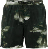 MSGM sky print beach shorts