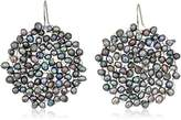 Kenneth Cole New York Womens Pearl Woven Drop Earrings