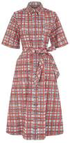 Burberry Painted Check Shirt Dress