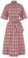 Burberry Painted Check Shirt Dress