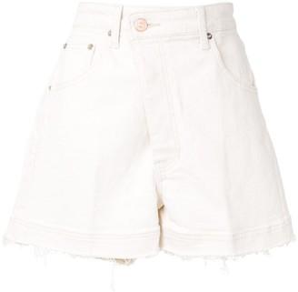 EENK Asymmetric Front Denim Shorts