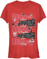 Fifth Sun Women's Tee Shirts RED - The Incredibles Red 'Incredible' Family Crewneck Tee - Women & Juniors