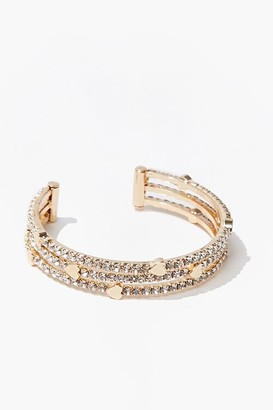 Forever 21 Heart Charm Bracelet Cuff