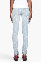 Marc by Marc Jacobs Pale blue Lily dot slim jeans