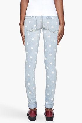 Marc by Marc Jacobs Pale blue Lily dot slim jeans