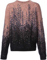 Lemaire two tone crew neck sweater
