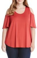 Karen Kane Plus Size Women's Cold Shoulder Shirttail Top